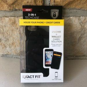 🆕 IPhone 7 Case & Wallet Combo 2-in-1 Techcase